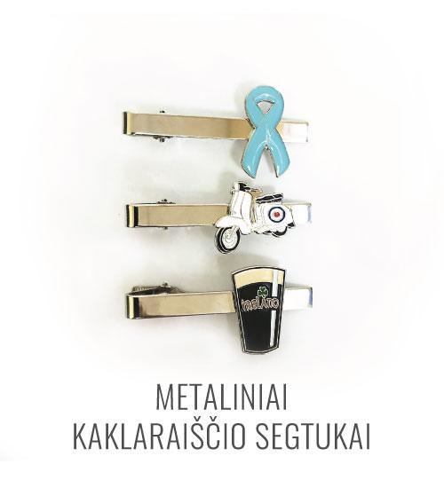 Metalinis kaklaraiščio segtukas/laikiklis