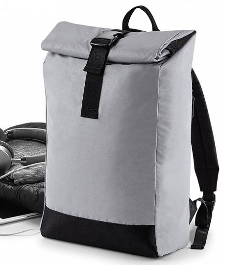 Reflective Roll-Top Backpack 075.29 atšvaitinė kuprinė BG138