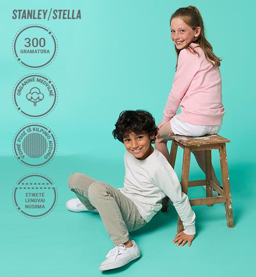 Vaikiškas džemperis Stanley/Stella Mini Scouter STSK 916 vidinė pusė kilpinis audinys Unisex