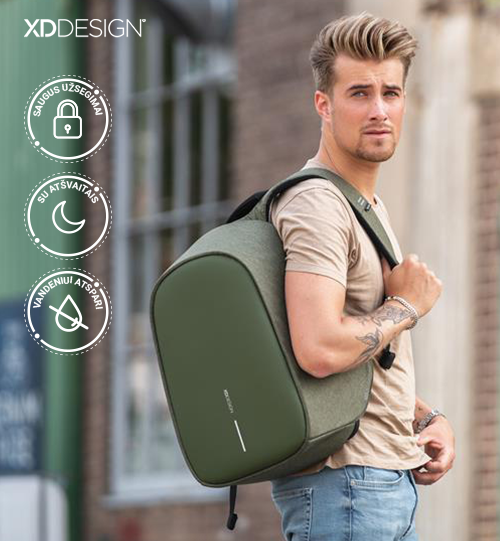 XD DESIGN® Bobby Hero Regular, Anti-theft backpack kuprinė