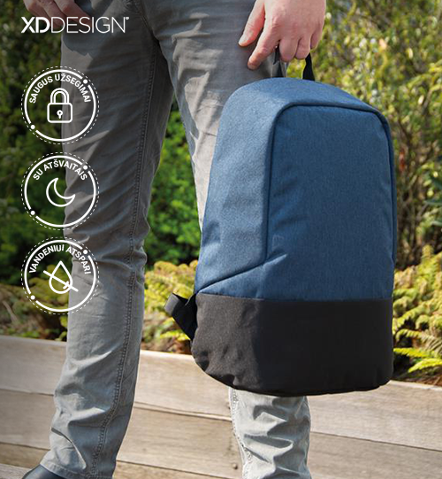 XD DESIGN® Standard RFID anti theft backpack PVC free kuprinė