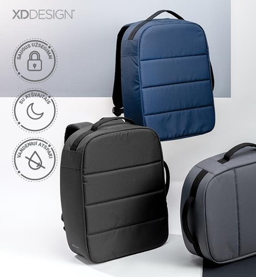 XD DESIGN® Impact AWARE™ RPET anti-theft 15.6″laptop backpack kuprinė