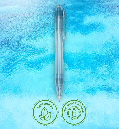 Ekologiškas iš perdirbo plastiko rašiklis 10774552 Alberni RPET ballpoint pen