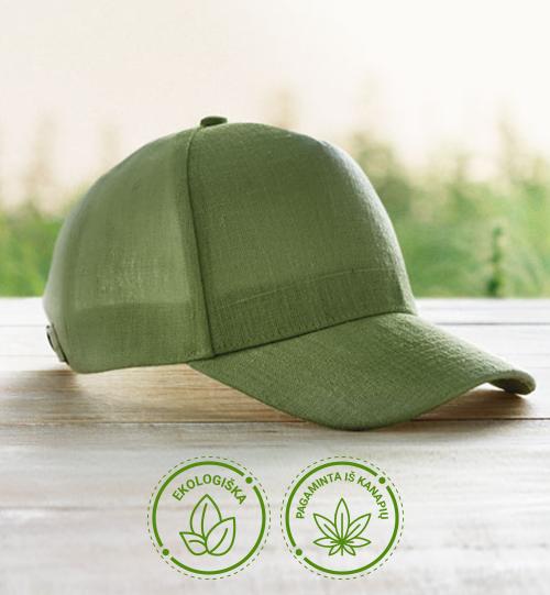 Ekologiška iš kanapių pluošto kepurė su snapeliu MO6176-07 NAIMA CAP