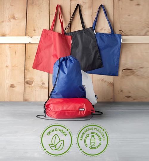 Ekologiškas iš perdirbto plastiko pirkinių maišelis 12049603  Sai RPET tote bag