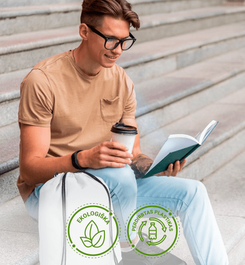 Ekologiškas iš perdirbto plastiko maišelis/kuprinė 12046102 Oriole RPET drawstring backpack