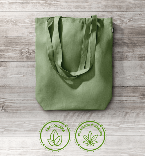 Ekologiškas iš kanapių pluošto pirkinių maišelis MO6162-04 NAIMA TOTE