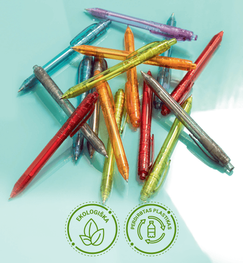 Ekologiškas iš perdirbo plastiko rašiklis 10657807 Vancouver recycled PET ballpoint pen