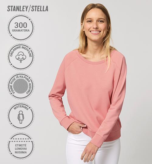 Džemperis Stanley/Stella Lietuva Stella Dazzler vidinė pusė kilpinis audinys STSW 125 Women