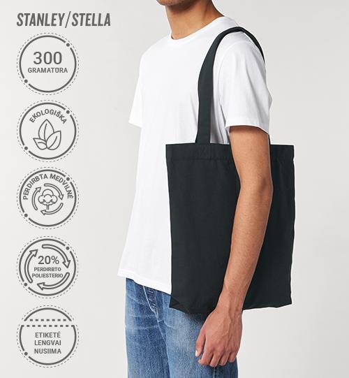 Perdirbtas ekologiškas maišelis Stanley/Stella Lietuva RE-Tote Bag STAU774 Unisex