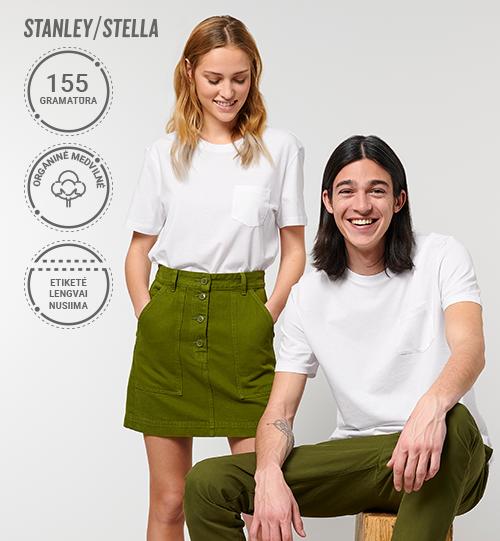 Marškinėliai su kišene Stanley/Stella Lietuva Creator Pocket STTU 830 Unisex