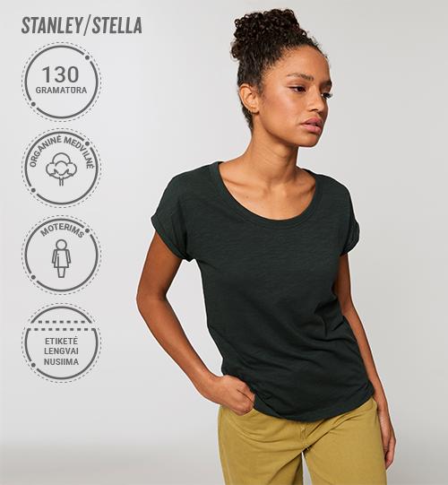 Moteriški marškinėliai Stanley/Stella Lietuva Stella Rounder Slub STTW 112 Women