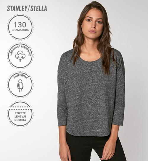 Moteriški marškinėliai Stanley/Stella Lietuva Stella Waver Slub  STTW 114 Women