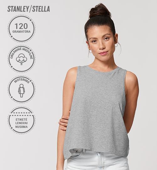Moteriški marškinėliai be rankovių Stanley/Stella Lietuva Stella Dancer STTW 038 Women