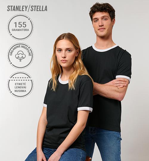 Marškinėliai Stanley/Stella Lietuva Stella Ringer STTU 827 Unisex