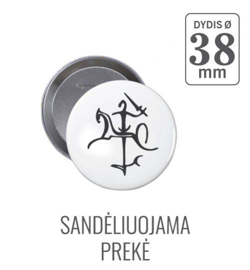 Apvalus ženkiukas Vytis Ø 38 mm