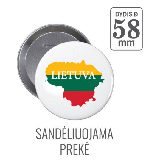 Apvalus ženkliukas Lietuva Ø 58 mm