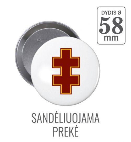 Apvalus ženkliukas Dvigubas Kryžius Ø 58 mm