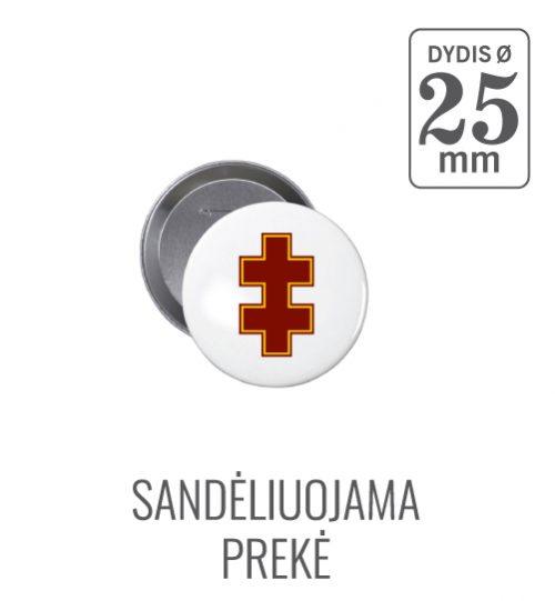Apvalus ženkliukas Dvigubas Kryžius Ø 25 mm