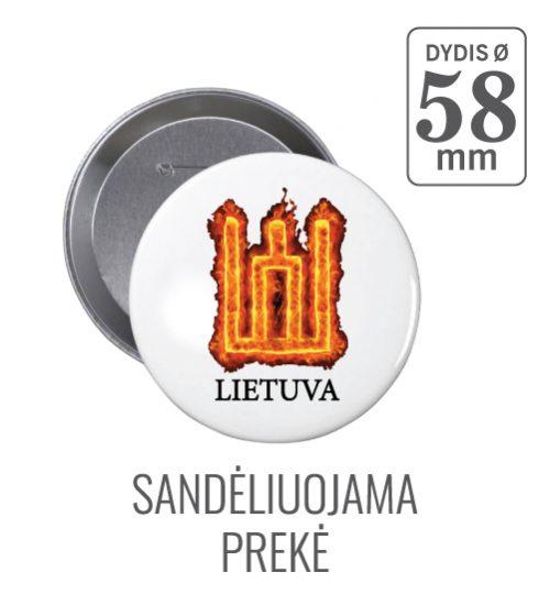 Apvalus ženkliukas Gedimino stulpai Ø 58 mm