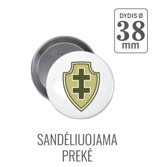 Apvalus ženkliukas Dvigubas Kryžius Ø 38 mm