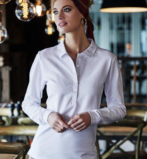 Polo marškinėliai Ladies Luxury LS Stretch 520.54 146 TEE JAYS