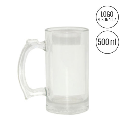 Alaus bokalas Beer Glass white window Sublimation EU-BN1W
