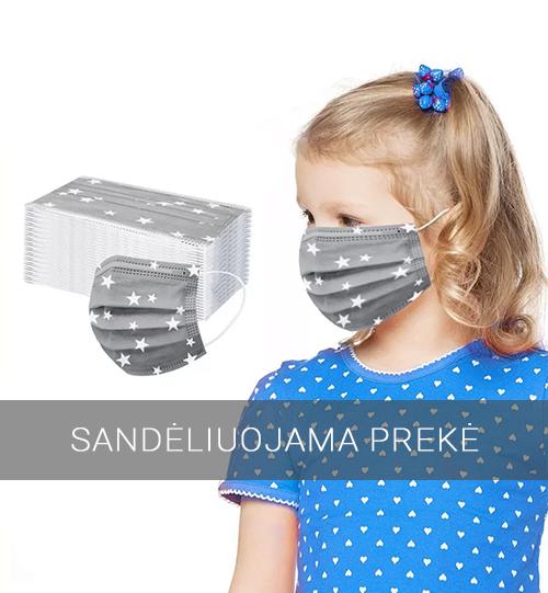 Vienkartinės žaismingos veido kaukės vaikams