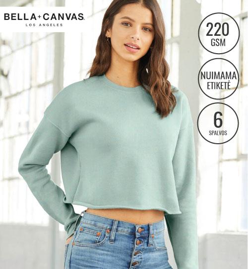 Džemperis Women's Cropped Crew Fleece 203.06 7503 Bella+Canvas women