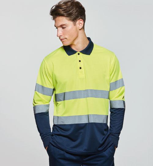 Hi-Viz polo marškinėliai POLARIS L/S 9306 ROLY