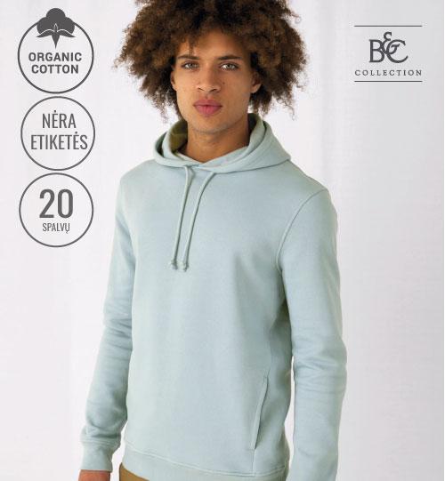 Džemperis Organic Hooded 230.42 WU33B B&C
