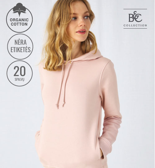 Džemperis Organic Hooded /women 231.42 WW34B B&C