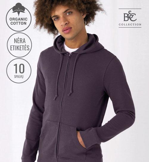 Džemperis Organic Zipped Hooded 232.42 WU35B B&C