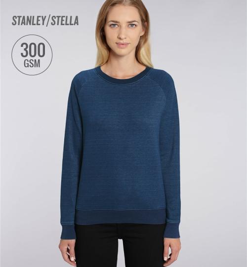 Džemperis Stanley Stella Tripster Denim STSW147 vidinė pusė kilpinis audinys women