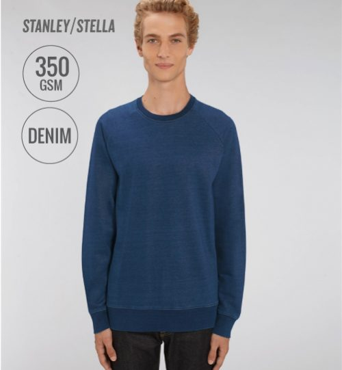 Džemperis Stanley Stella Stroller Denim STSM 568 vidinė pusė kilpinis audinys men