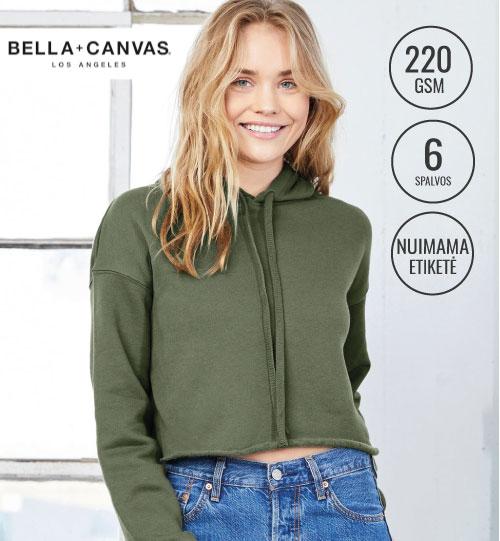 Džemperis Women's Cropped Fleece Hoodie 202.06 7502 Bella+Canvas women
