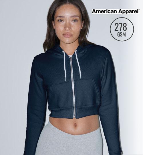 Džemperis Flex Cropped Zip Hooded Sweat 203.07 F397W American Apparel women