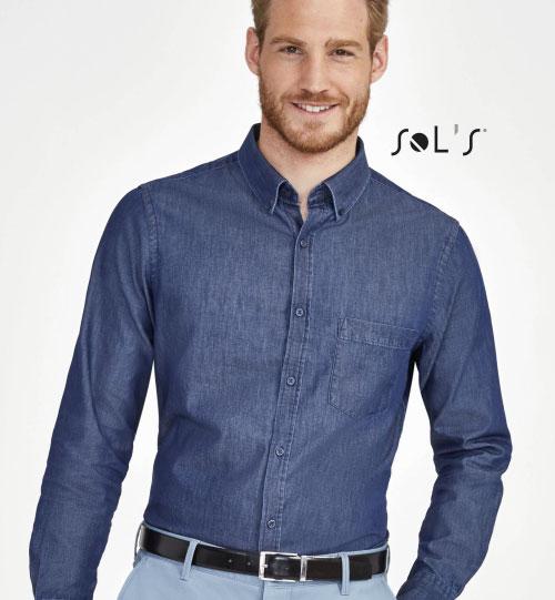 Džinsiniai marškiniai Barry Men 02100 SOLS