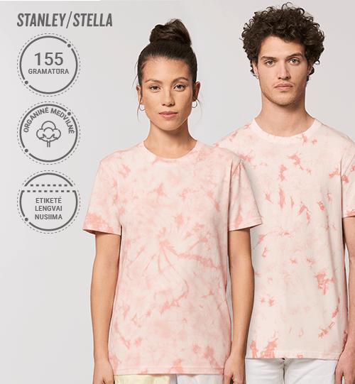 Marškinėliai Stanley/Stella Lietuva Creator Tie and Dye STTU 757 Unisex