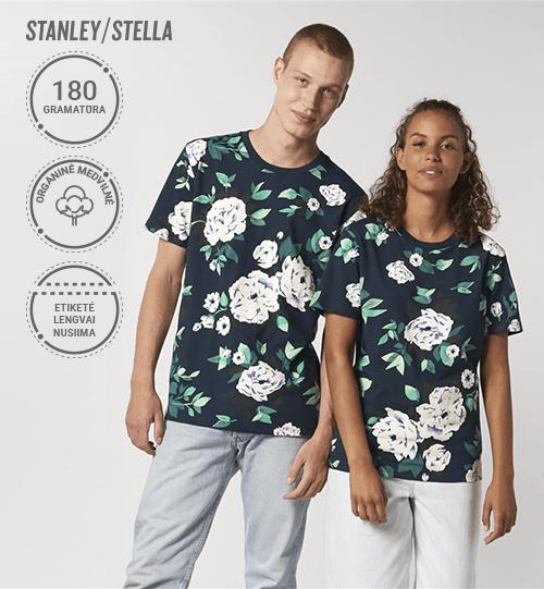 Marškinėliai Stanley/Stella Lietuva Creator AOP su gėlėtu raštu  STTU 828 Unisex