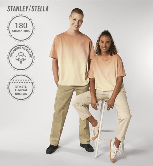 Pereinančių spalvų marškinėliai Stanley/Stella Lietuva Fuser Dip Dye STTU 785 Unisex