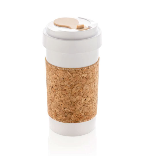 Puodelis Eco PLA can with cork sleeve 400 ml XD Collection