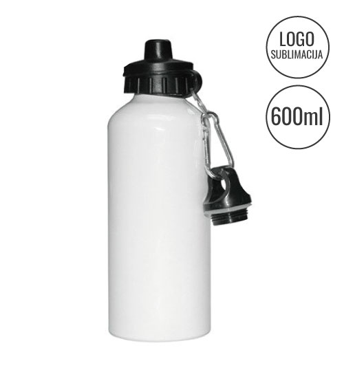 Gertuvė White bicycle water bottle Sublimation EU-BLH1-2W