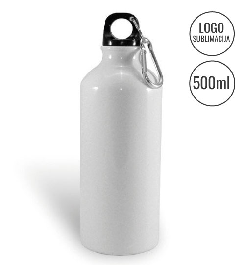 Gertuvė White tourist water bottle Sublimation EU-BLH3B