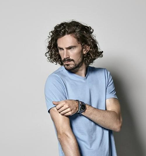 Marškinėliai vyriški V kaklu ID0514