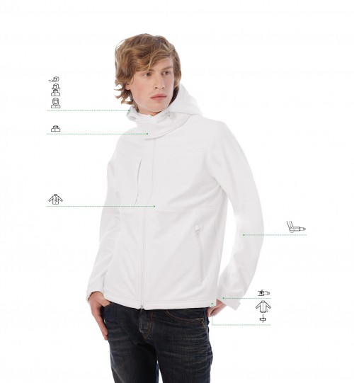 Striukė B&C HOODED SOFTSHELL /MEN > JM950