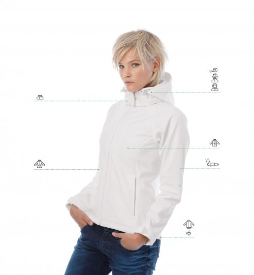 Striukė B&C HOODED SOFTSHELL /WOMEN > JW937