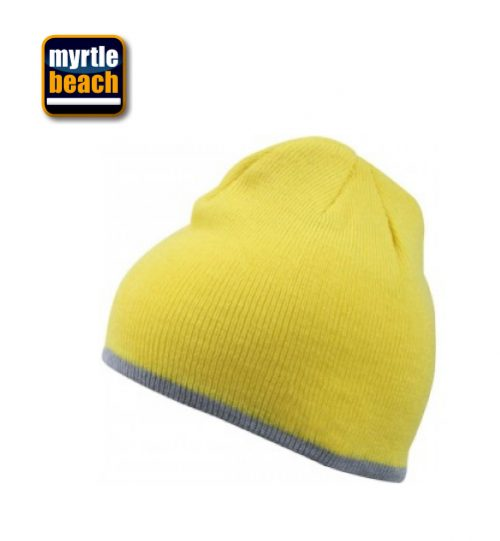 Kepurė MYRTLE BEACH Beanie with contrasting border 03.7584 / MB 7584  unisex