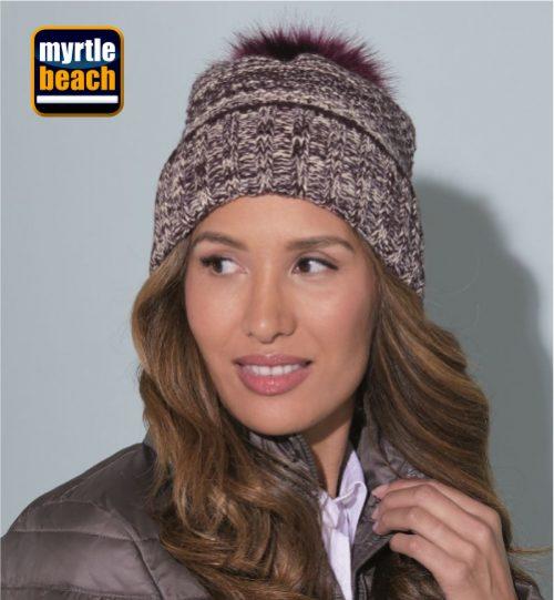 Kepurė MYRTLE BEACH Ladies' Melange Beanie MB 7115 / 03.7115