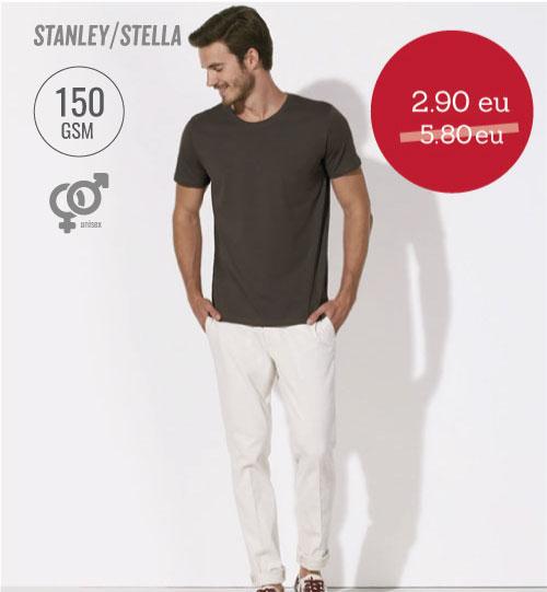 IŠPARDAVIMAS Marškinėliai Leads STTM 528 STANLEY & STELLA Chocolate XXL – 3 VNT.